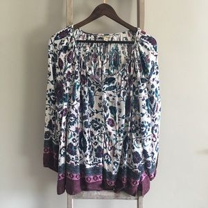 Lucky Brand Peasant Tunic Top